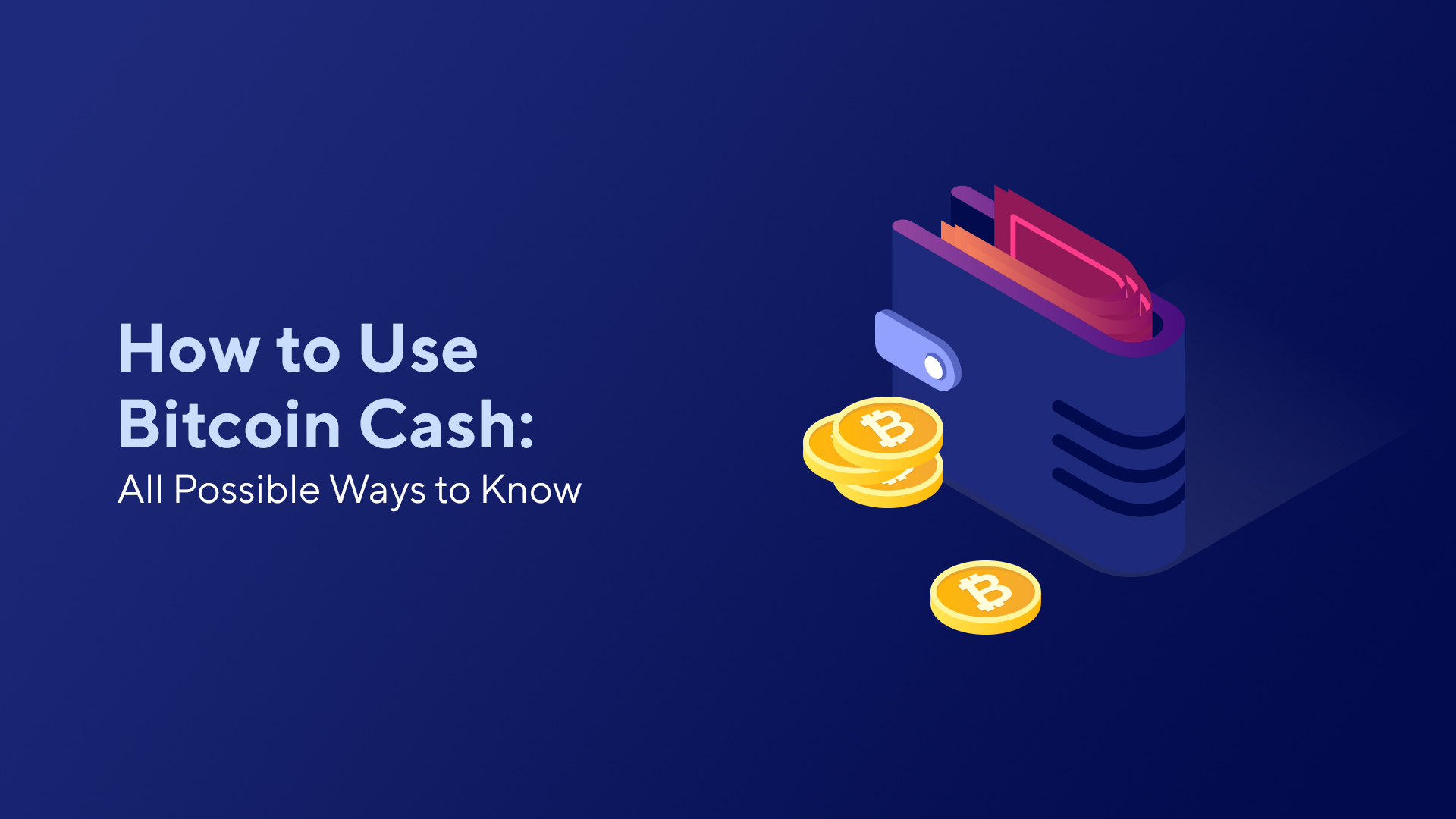 How to Use Bitcoin Cash: All Possible Ways to Know