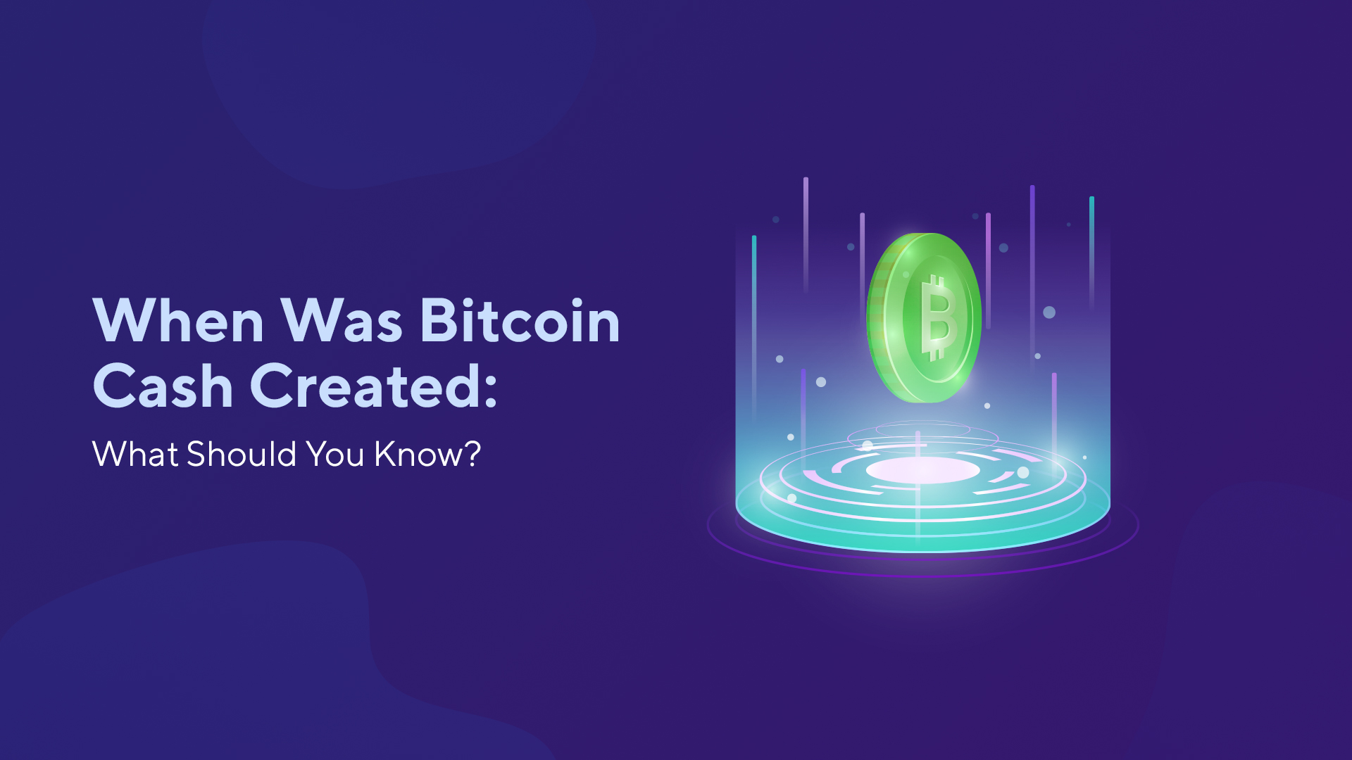 When Was Bitcoin Cash Created: What Should You Know?
