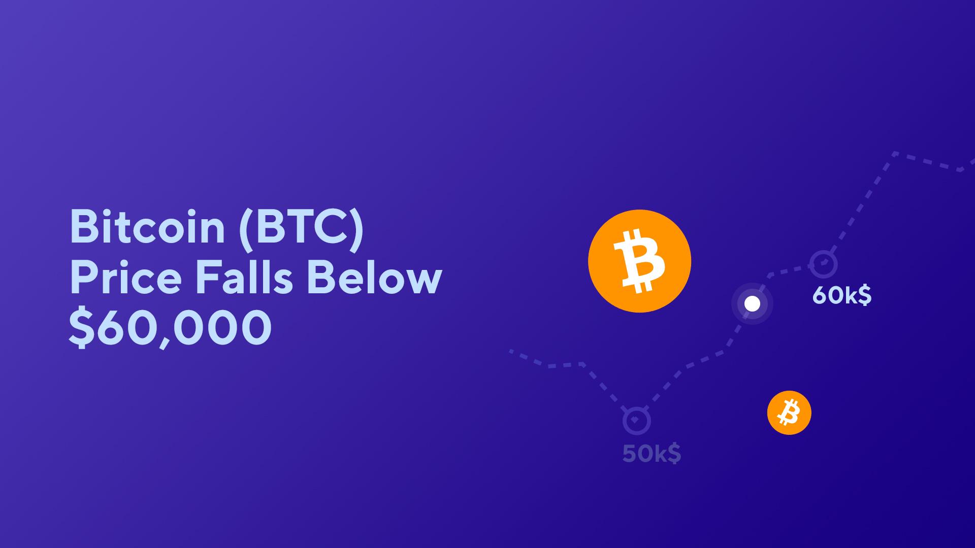 Bitcoin (BTC) Price Falls Below $60,000