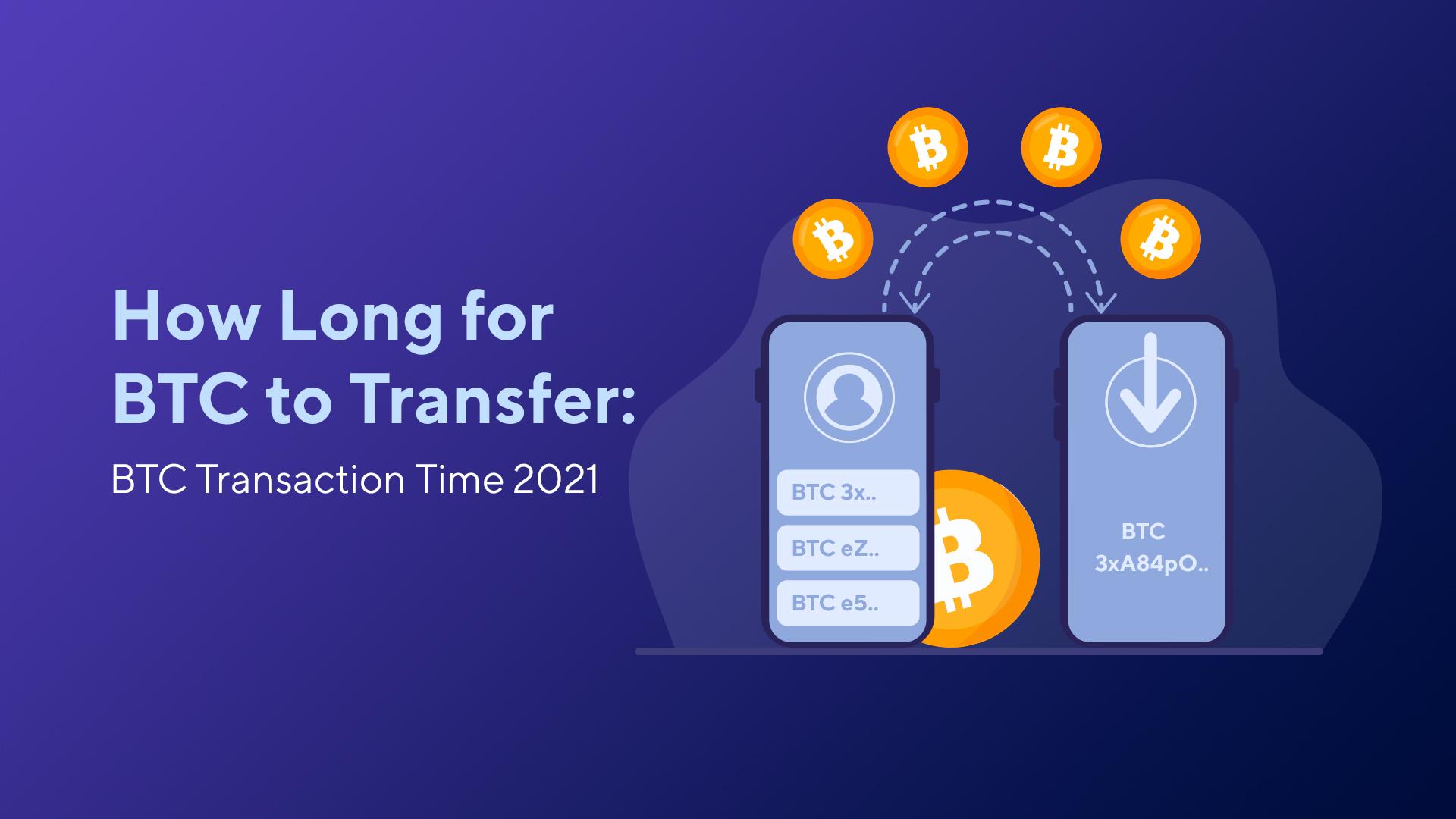 How Long for BTC to Transfer: BTC Transaction Time 2021